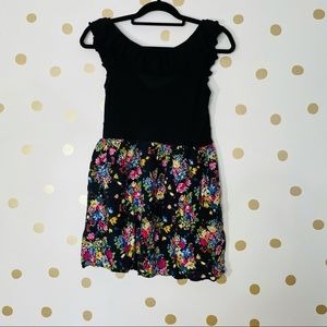 Timing casual floral short sleeve mini dress